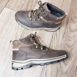 Timberland Boys White Ledge Lacer Hiker Boots